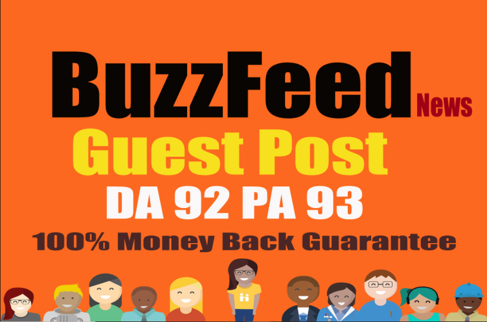 Publish your Quality article on BuzzFeed With DA 92 PA 93 Permanent Backlink