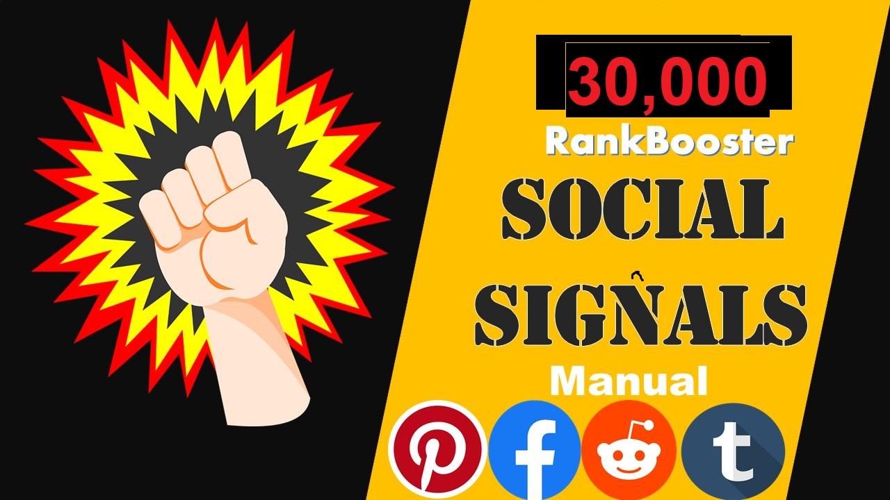 Mega Deal 20000 Pinterest + 7000 Facebook + 3000 Tumbler Social Signals