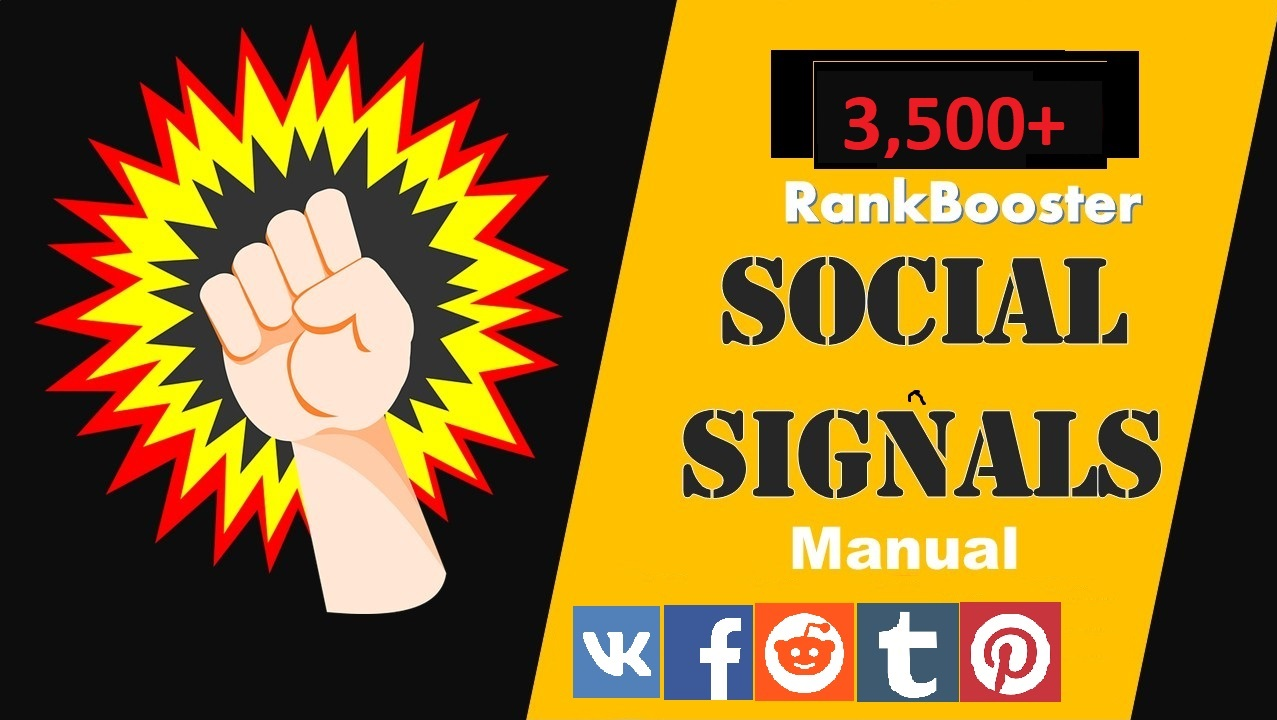 Social Signals from Top 5 Media Platforms 3500+ Social Signals To boost Your Google Ranking & SEO