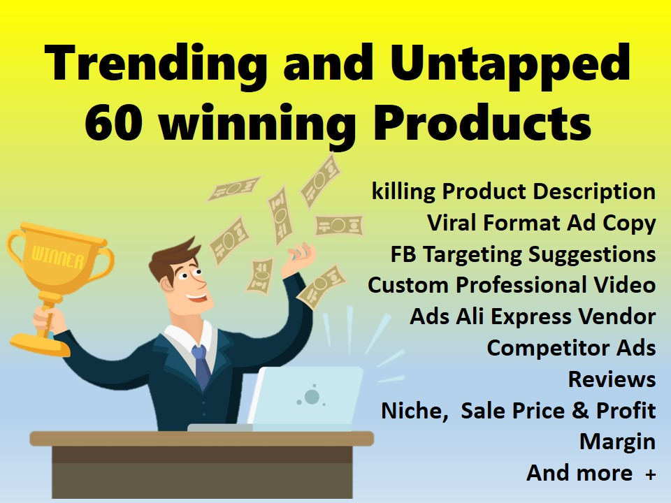I will find 10 dropshipping winning products with ad video