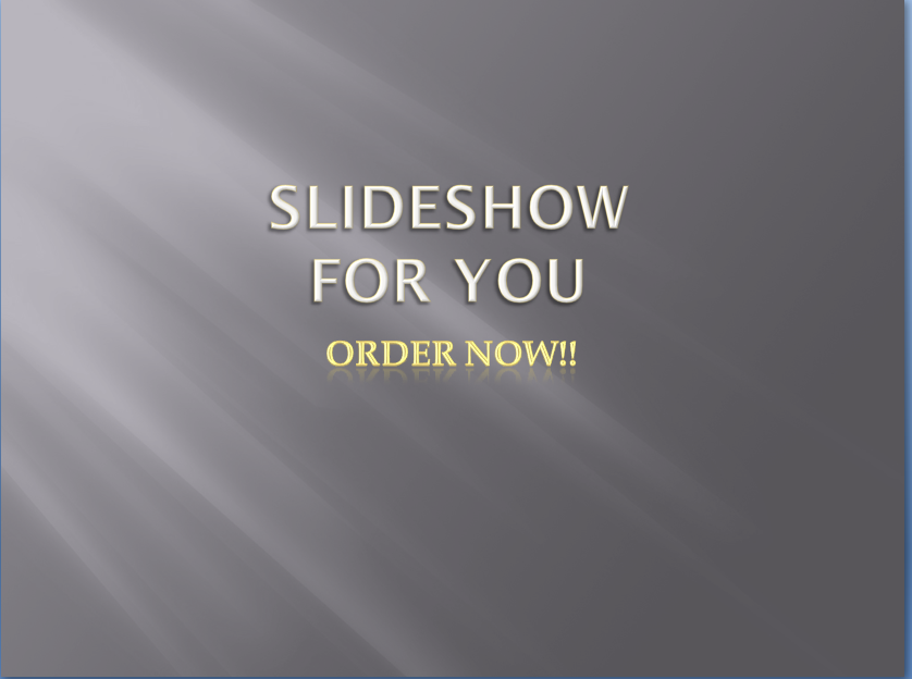 I will create professional slideshow for you