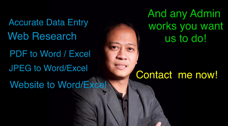Virtual Assistant - Data Entry MS Word / Excel / Powerpoint