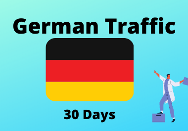 30 day traffic from Germany for 1 month country targeted traffic,  low bounce German traffic