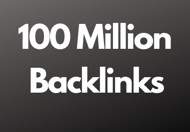 100 Million dofollow backlinks high da and pa sites for multitier backlink for youtube and website