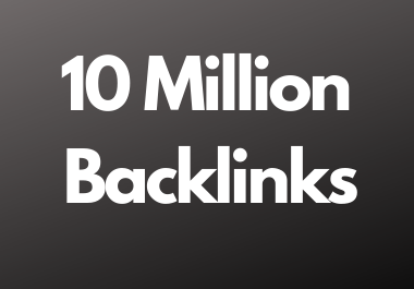 10 Million dofollow backlinks high da and pa sites for multitier backlink for youtube and website