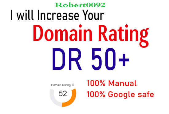I will increase domain rating DR Ahrefs to 50+ in just 10days