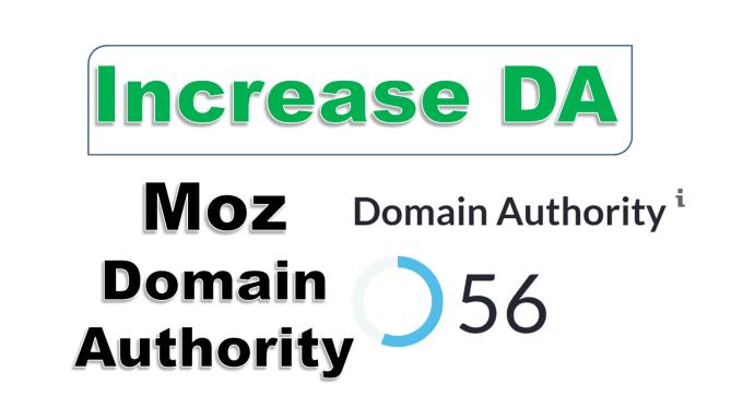 I will increase your domain authority da 40 plus DR 40 plus