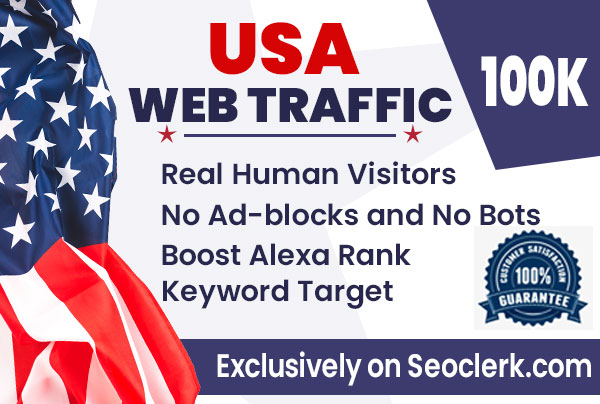 Send USA keyword target organic traffic from google