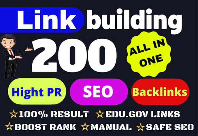 Build Up All In One 200 Manual SEO Link Building Package