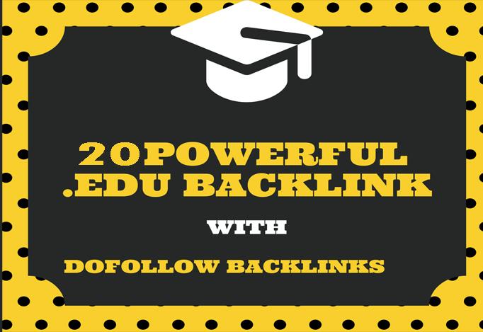 20 Powerful DoFollow. EDU PROFILE LINKS From Top Universities.