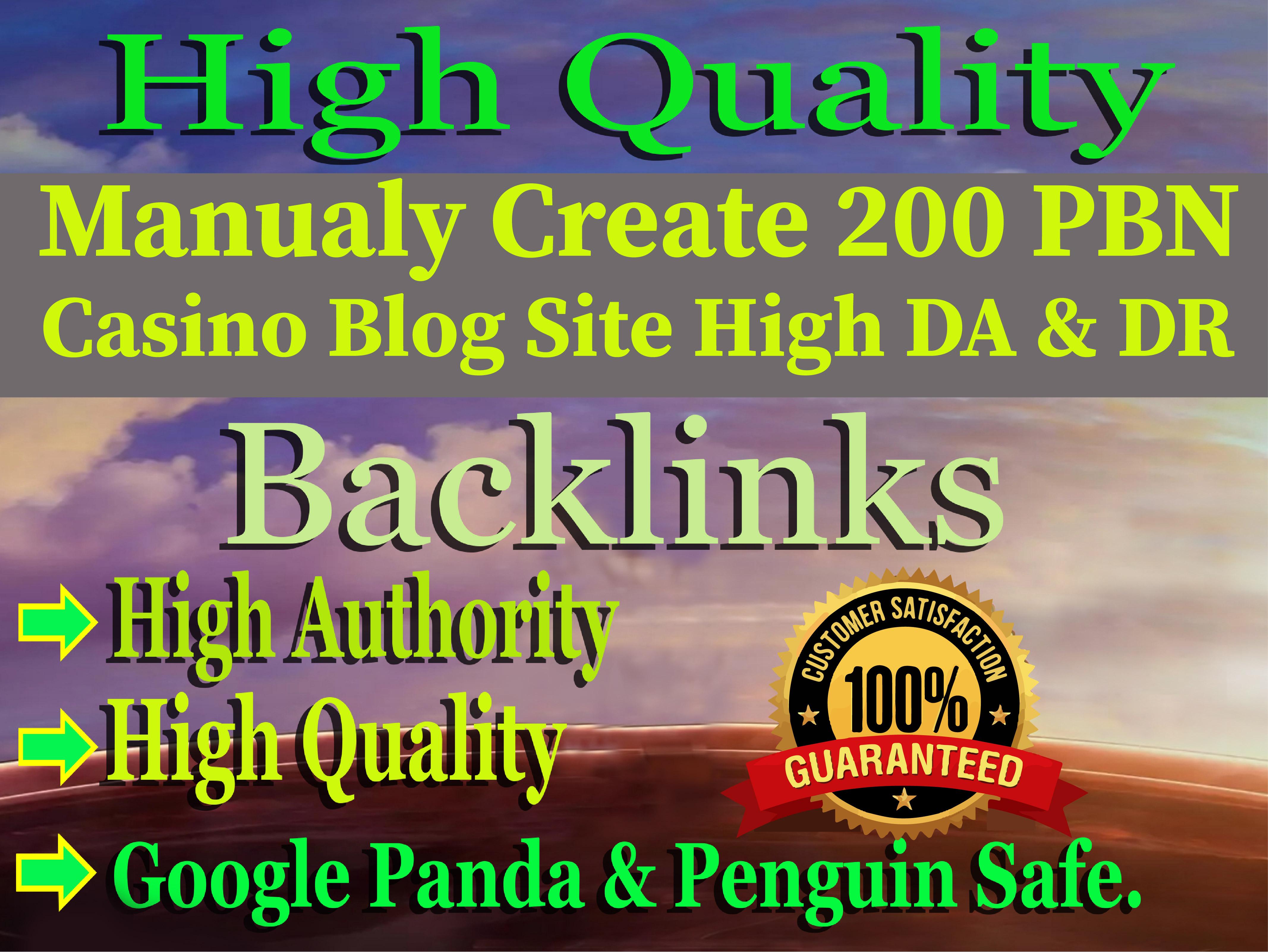 Create Permanent 200 powerful Casino,  Gambling,  Poker,  Sports High Quality Blog Web2.0 PBN Backlinks