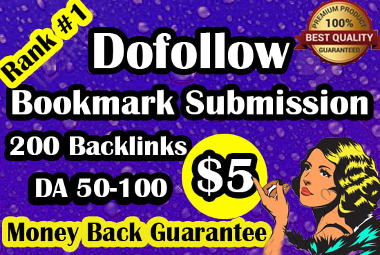 I will do manually 100 bookmark submission for HQ backlinks