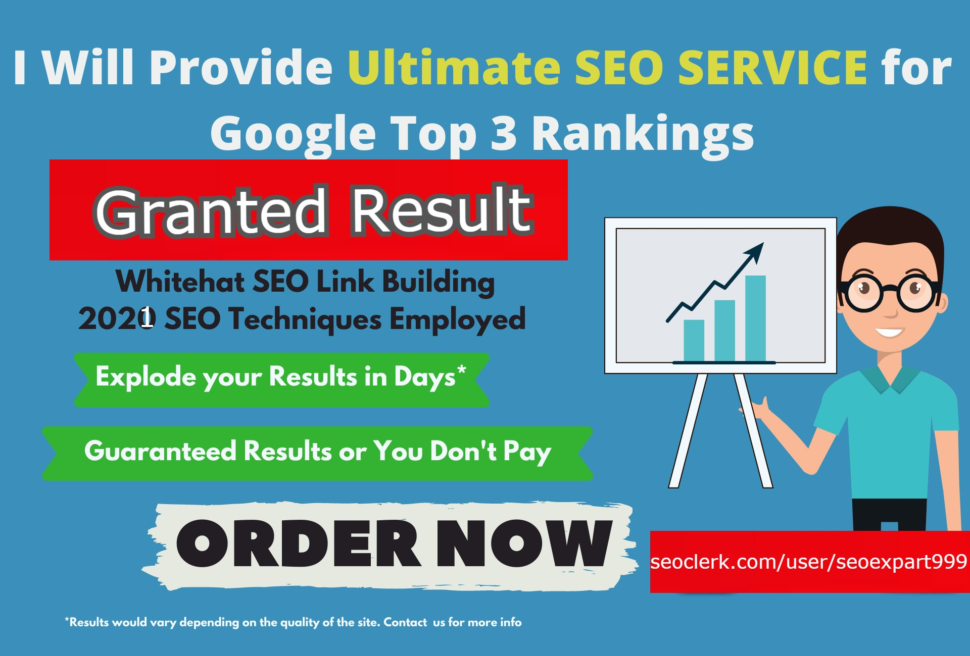I will do ultimate monthly SEO service for page 1 rankings for 2021