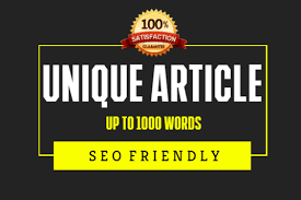 i will write a unique 1000 words articles