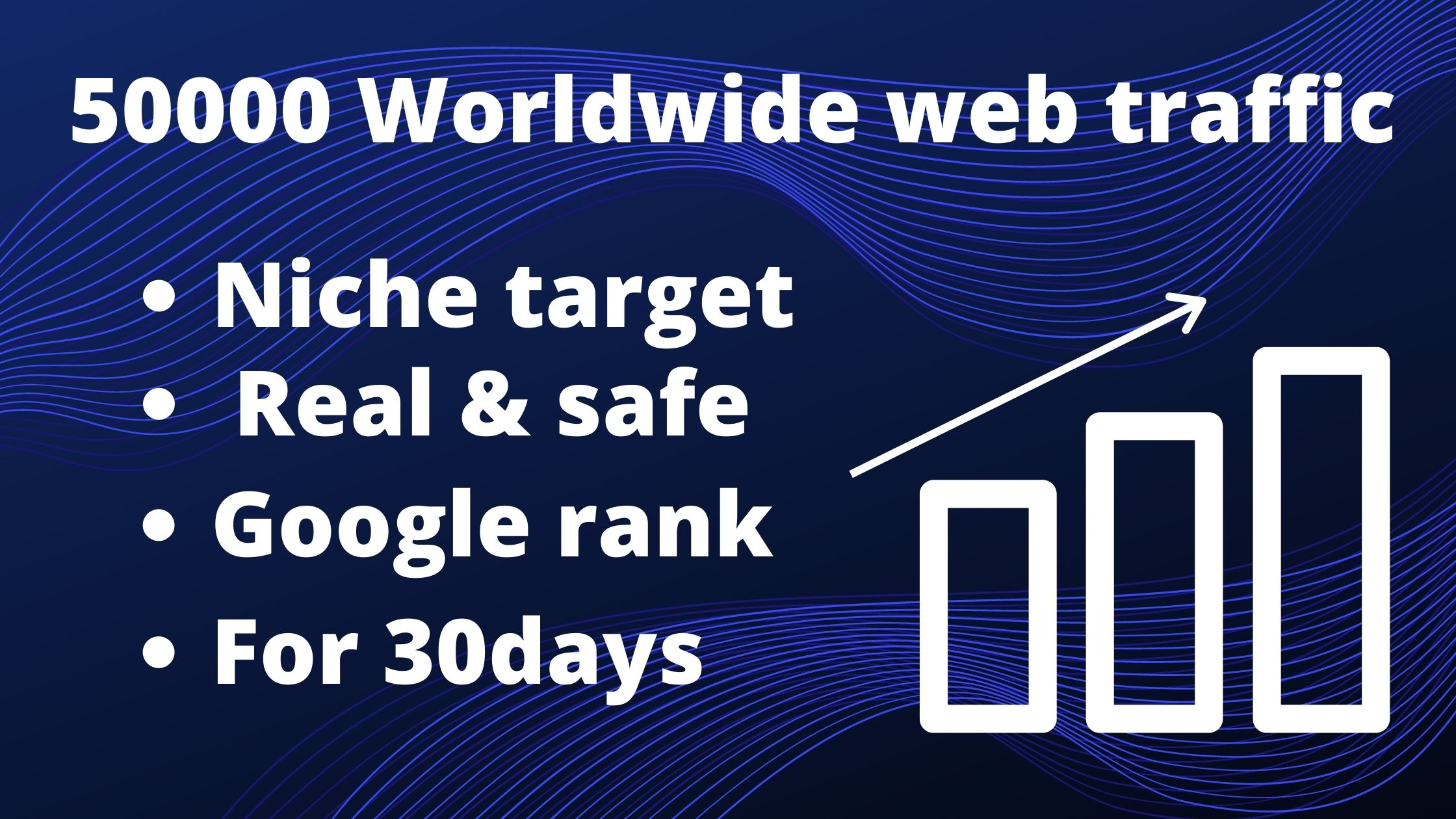 I will send 50,000 real USA web traffic to your website in 5 days