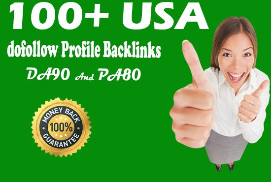 I will create 100 USA do follow profile backlink for website