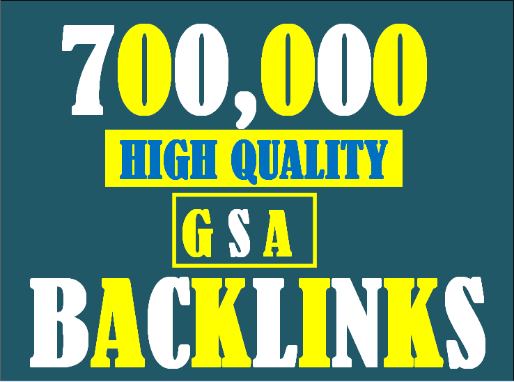 I will build 700K gsa ser backlinks to increase ranking and index on google