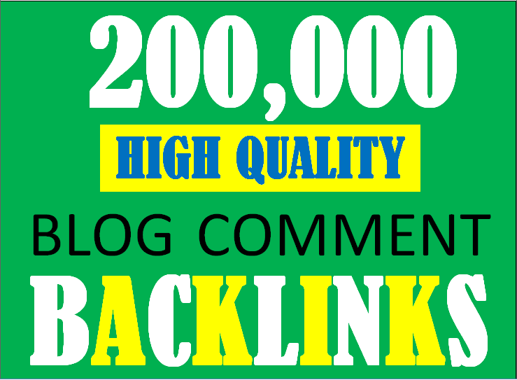 I will build 200K blog comment backlinks to increase ranking and index on google