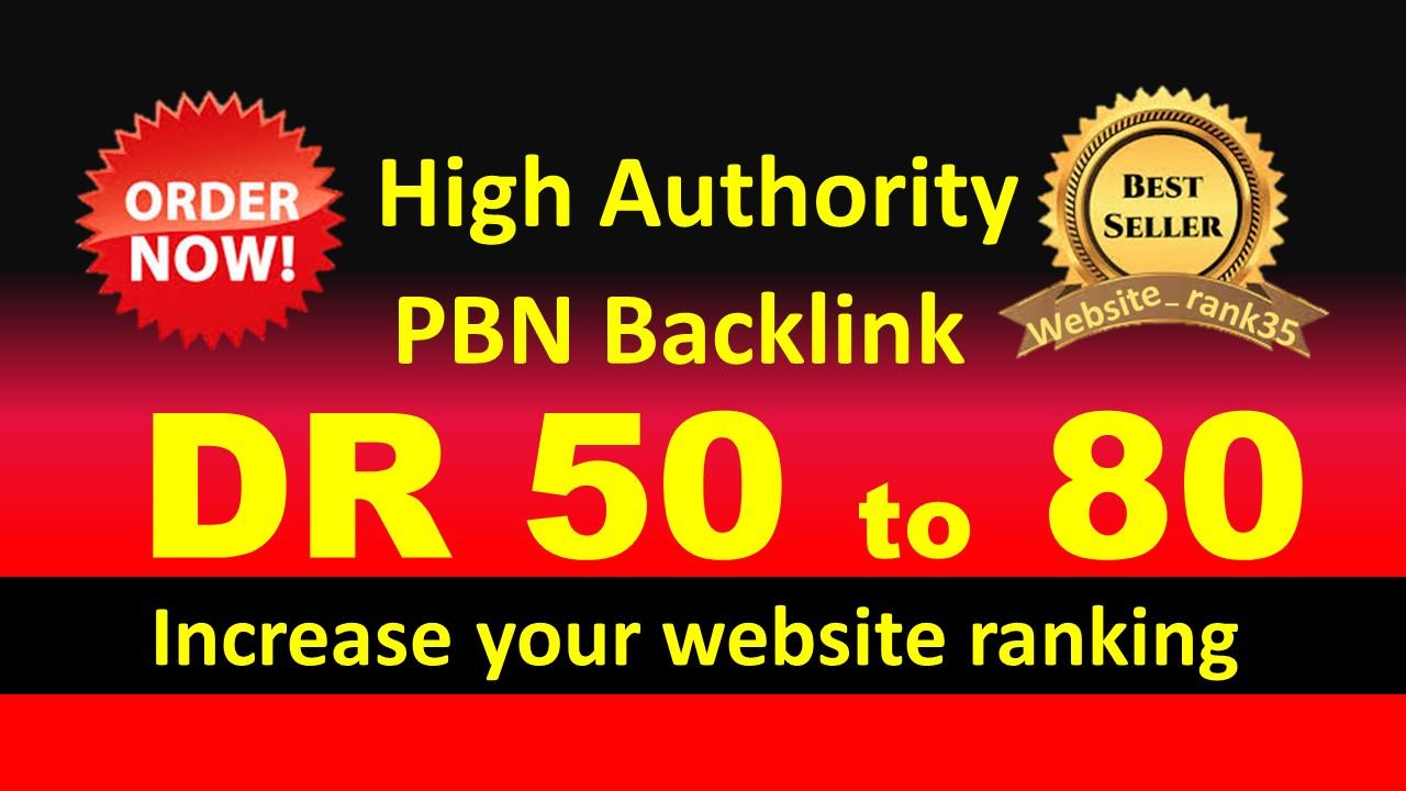 I will make 30 high DR 50 to 80 high quality dofollow backlinks for seo