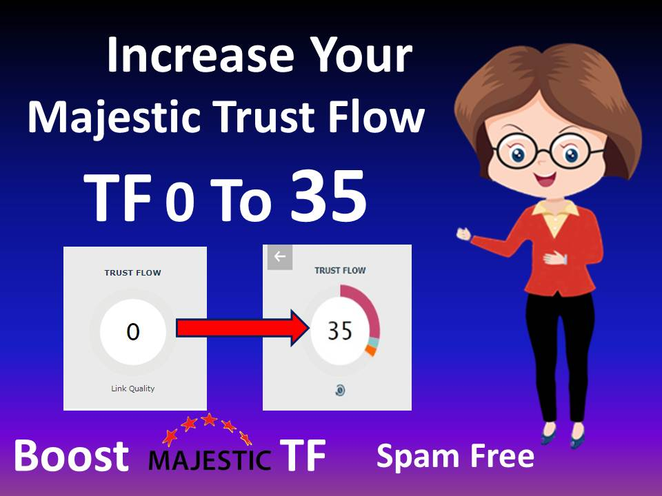 i'll increase majestic tf 30 plus guaranteed in 12days