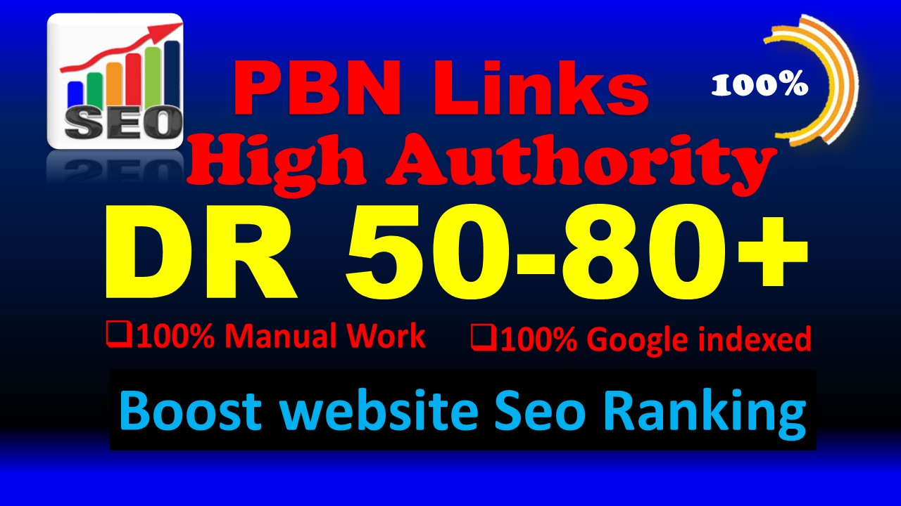I will make 35 DR 50 to 70 high quality dofollow seo backlinks