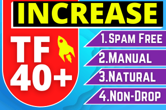 increase URL majestic trust flow tf 40 Guaranteed in 10 days
