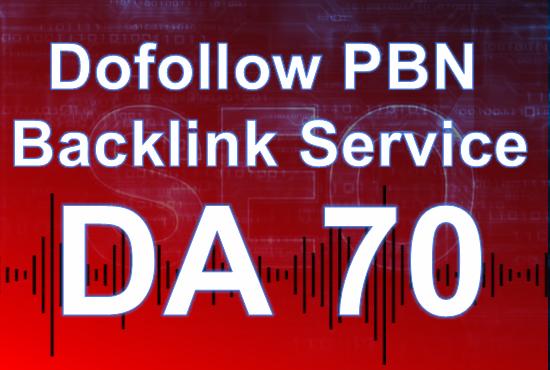 Build 5 HomePage dofollow Posts DA 70 Plus PBNs