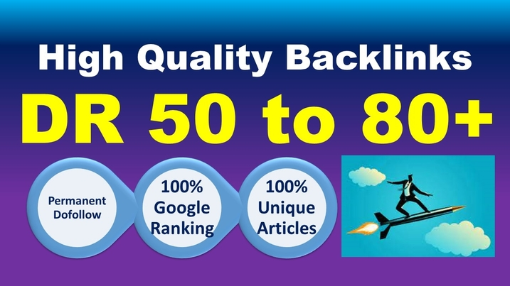 I will 50 SEO backlinks white hat manual link building service high ranking