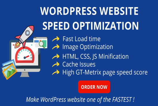 Wordpress Speed optimization,  increase website speed in Googlepagespeed, Gtmetrix 100