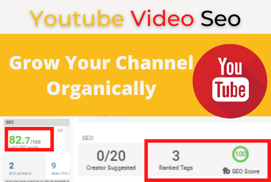 I will Do Channel seo,  optimize Video