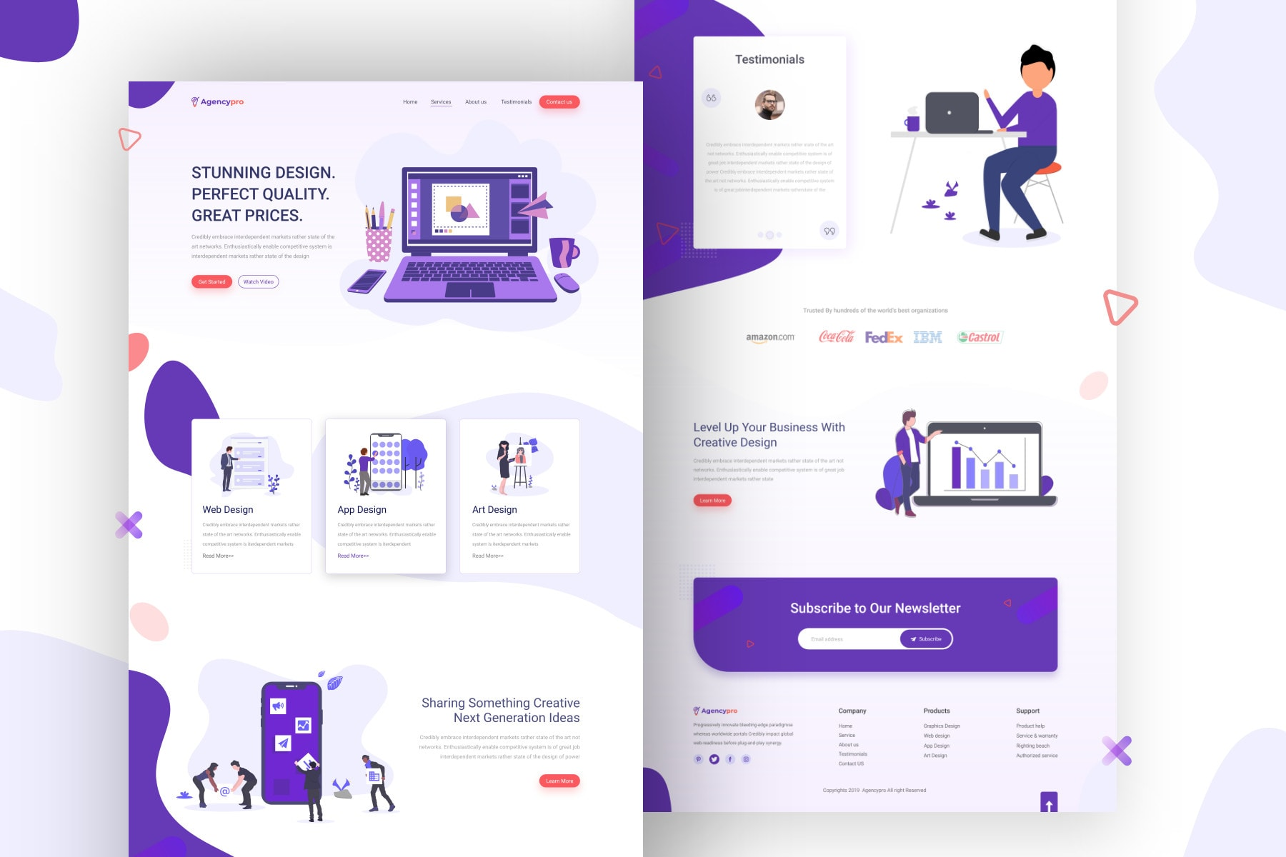 I will design professional landing page in wordpress