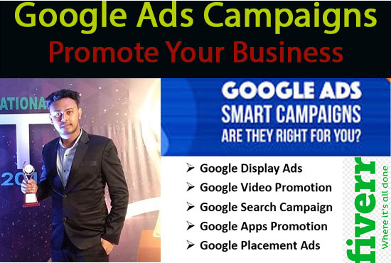 I will Create and Manage your Google Ads Campaign