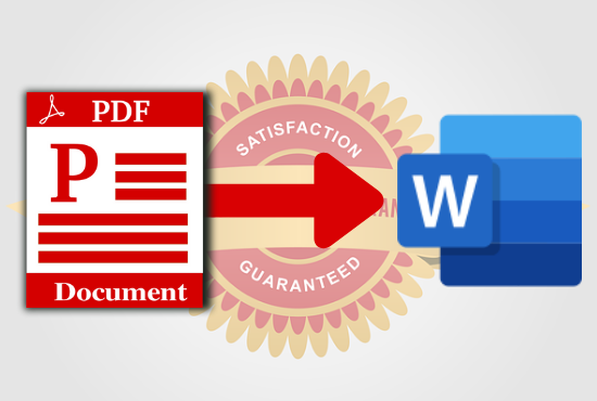 I will convert PDF or scanned documents to word