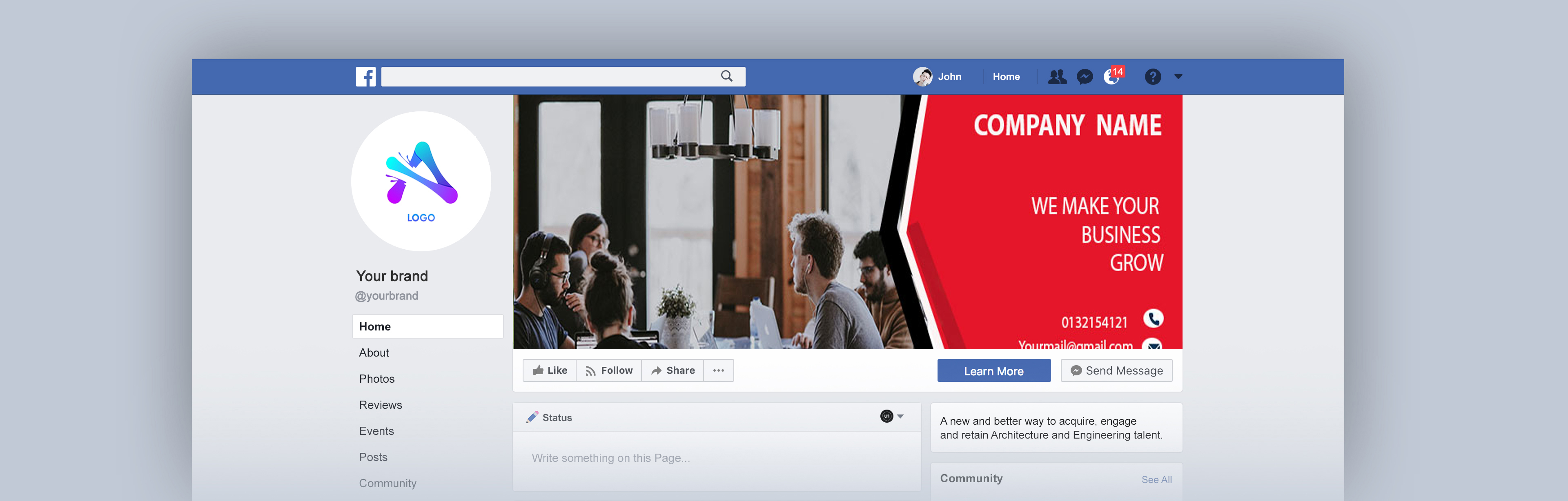 I will design facebook cover page