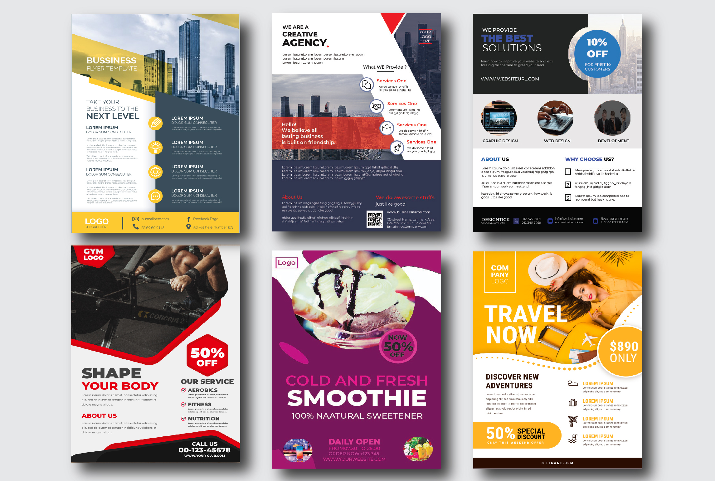 I will design flyer for your business