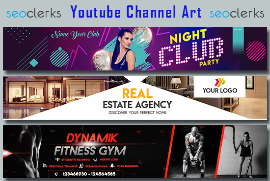 I will create youtube banner design