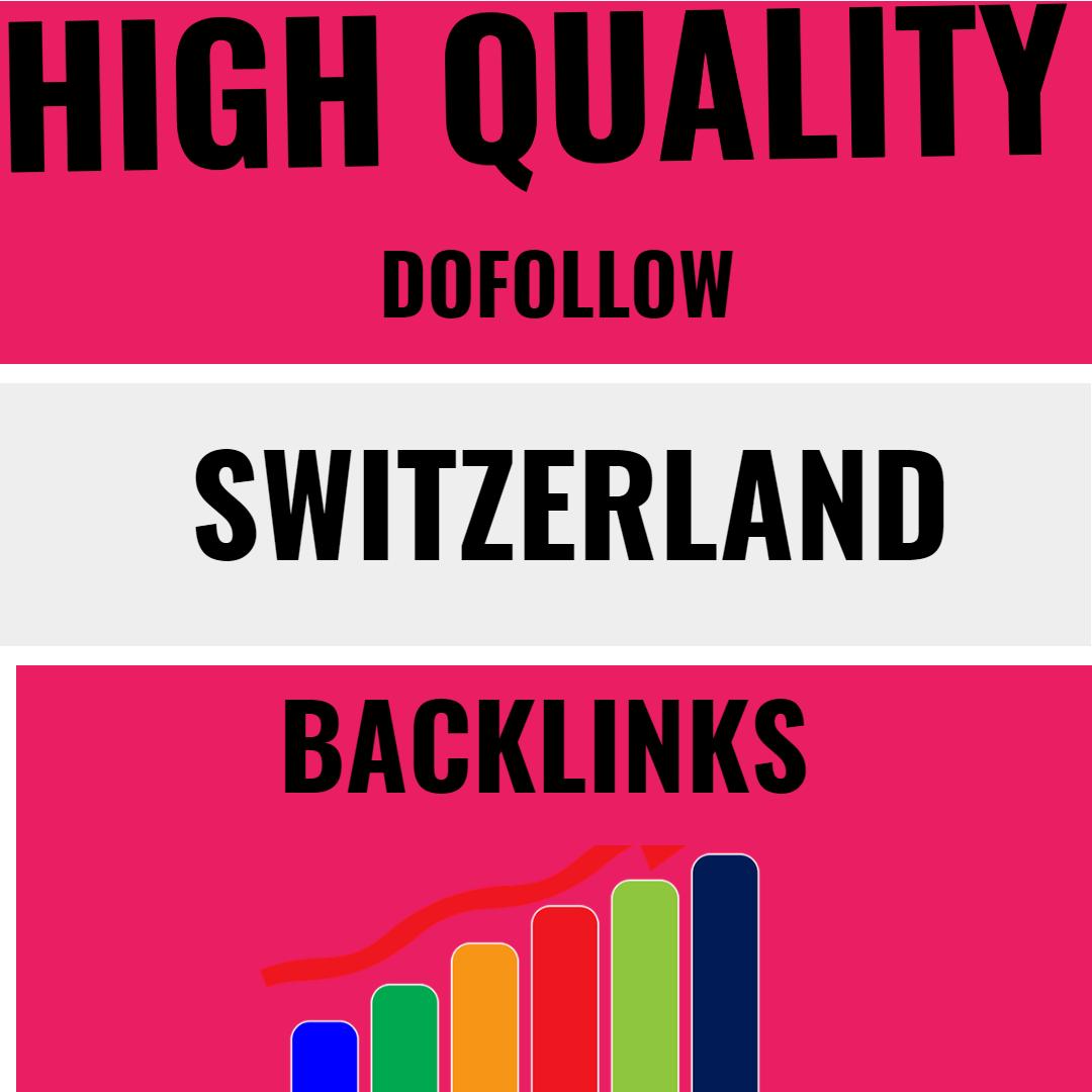 I will build switzerland google ranking with 35 high quality swiss backlinks