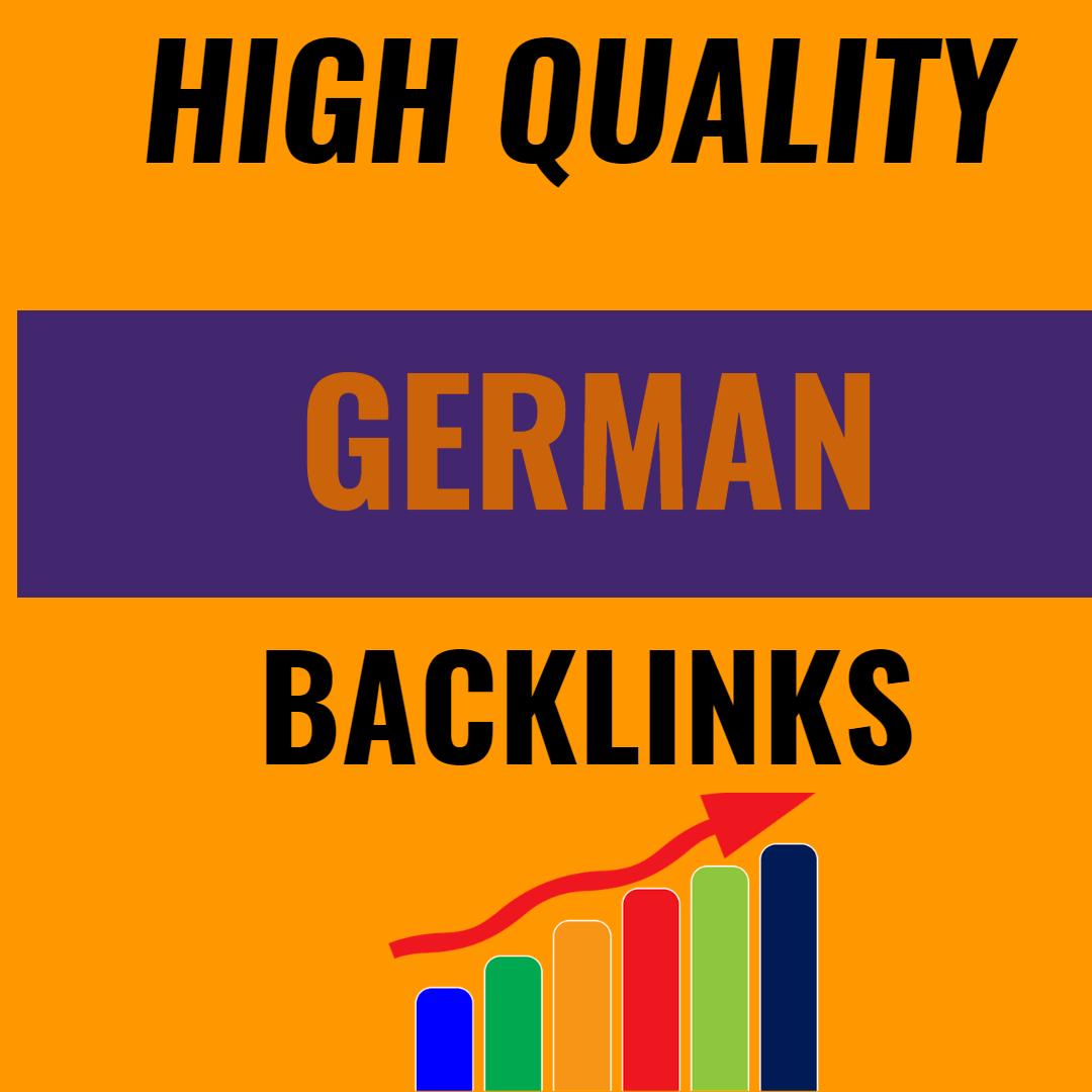 I will create 35 high quality dofollow german backlinks
