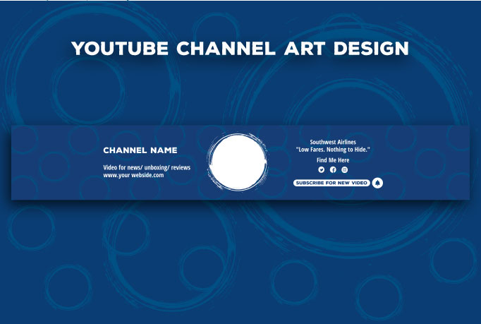 I will design Youtube banner for you in 19 hours