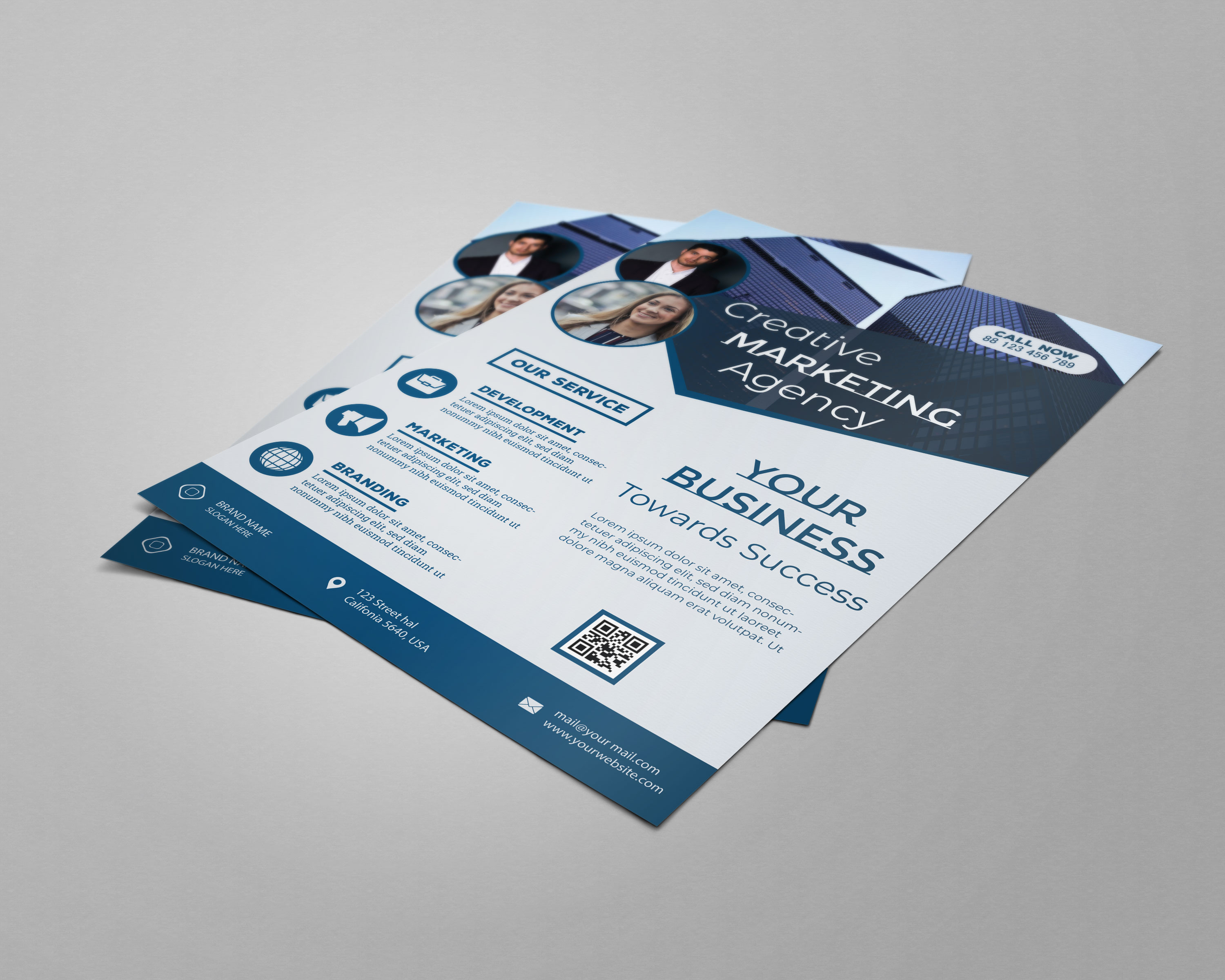 I will design modern business flyer poster for you within 19 hours