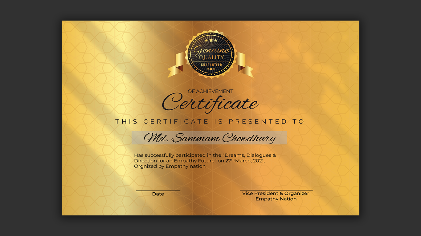 I Will design diversity of Certificate designs within 24 hours