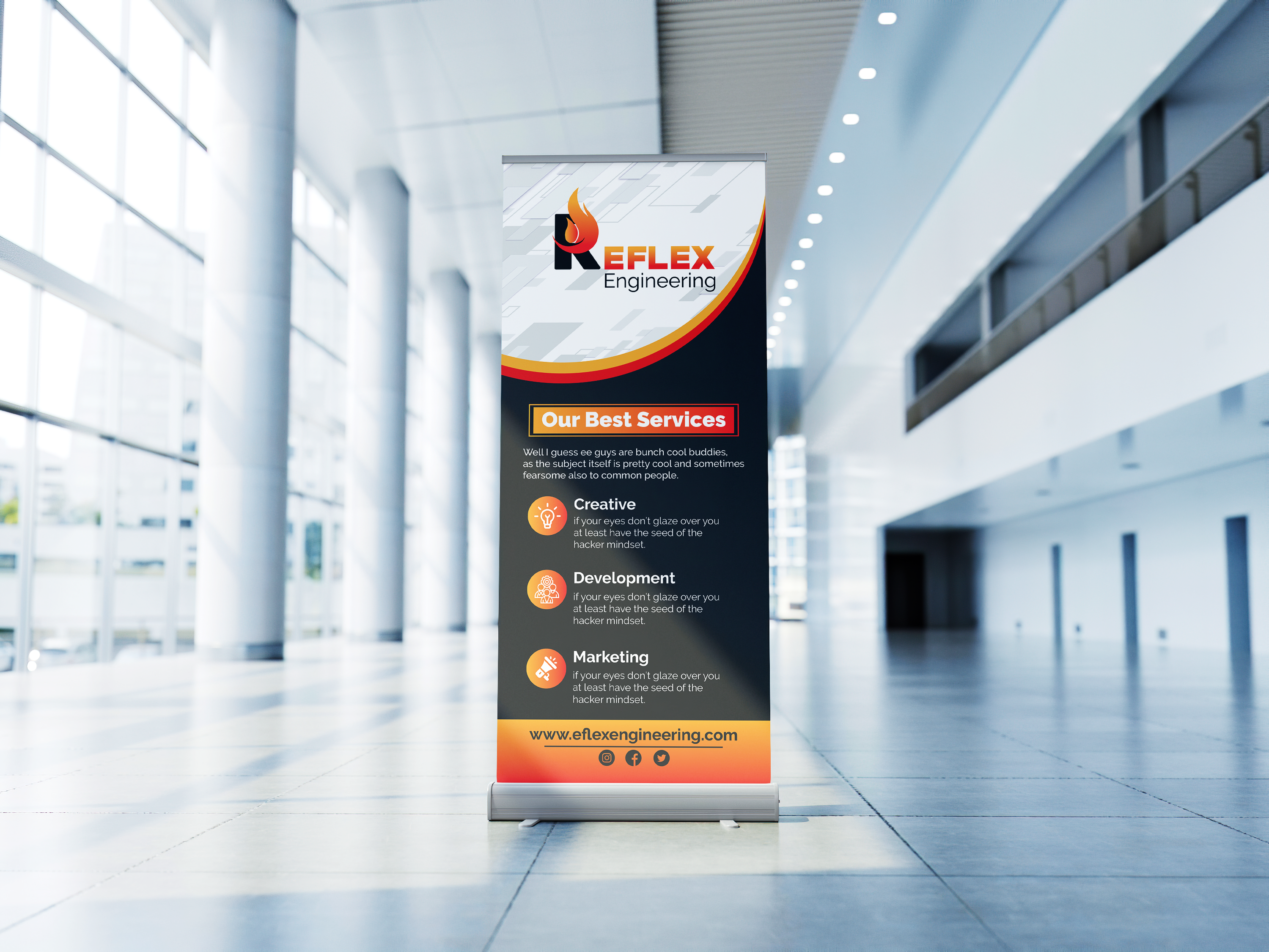 I will design roll up banner for your company