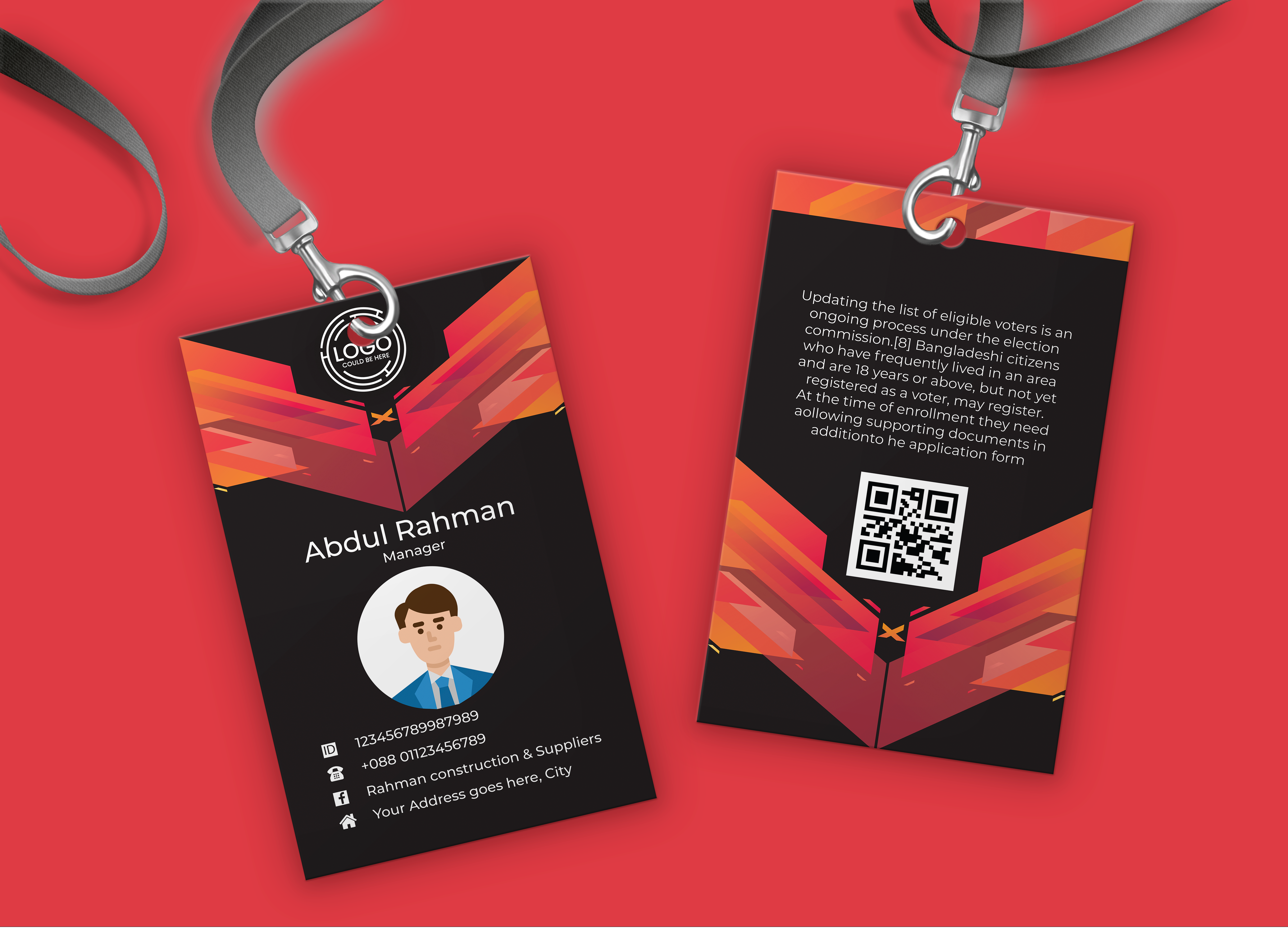 I will design Professional Id Card Design for your Business