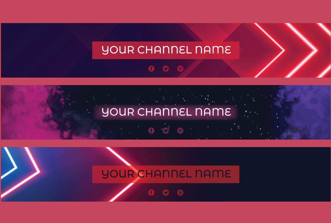 I will design creative Youtube Banner