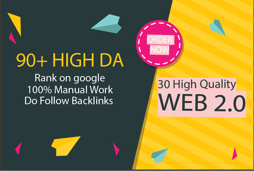 I will build 30 High Quality Web 2.0 Backlink With Unique Article