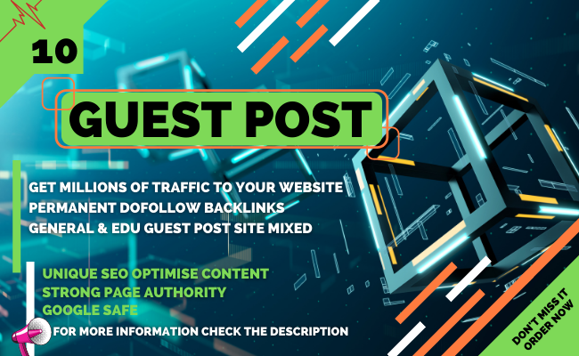 I Will Publish 10 SEO Guest Post with Permanent Backlink