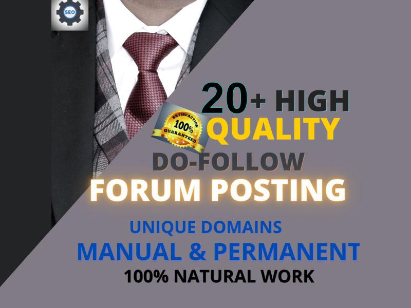 I Will do 20 High Quality Forum Posts Backlinks