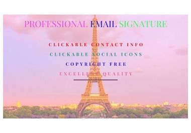 I will make clickable email signature for Gmail