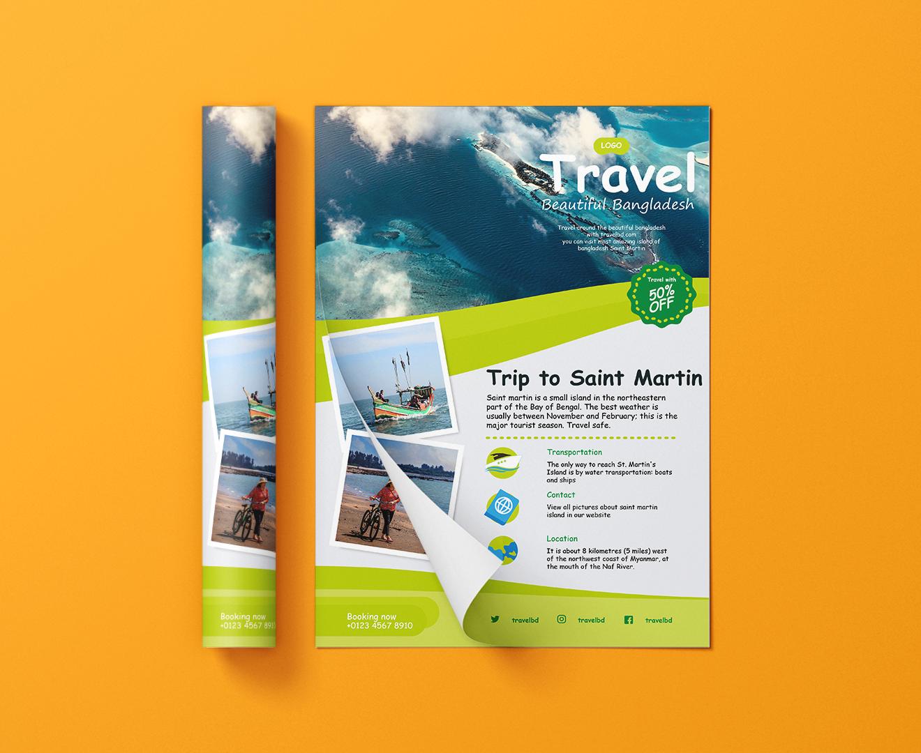 design professional business flyer brochure catalog banner leaflet