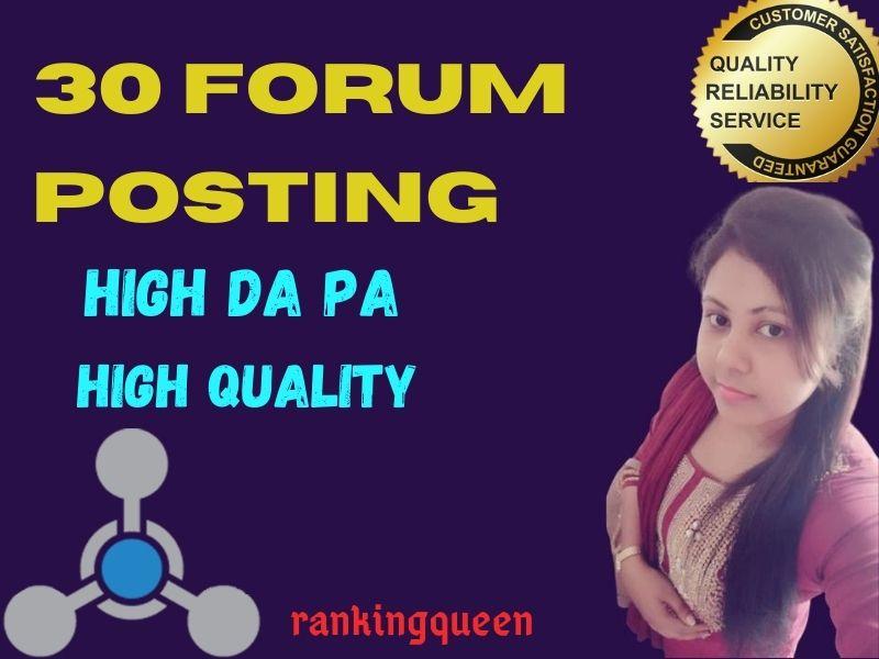 I will manually do 20 high quality forum posting Backlinks